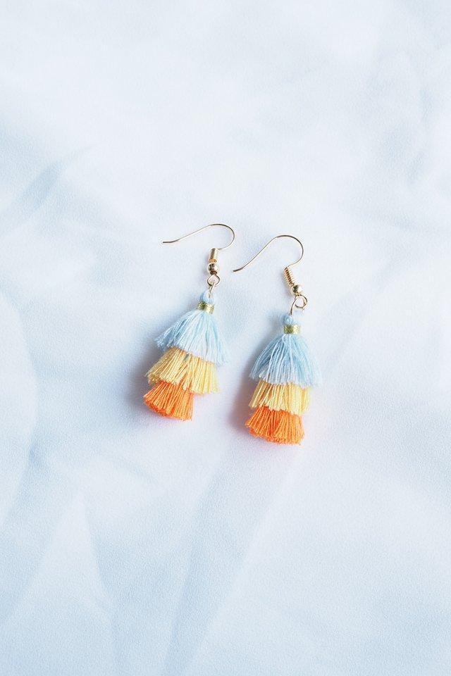 Mini Tassel Earrings (Neon)
