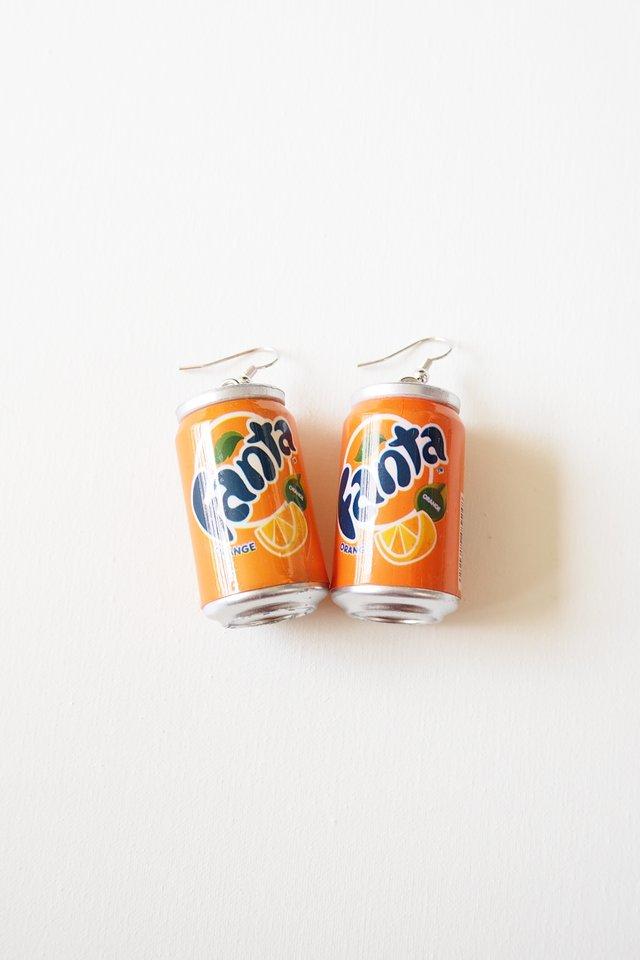 Canned Drink Earrings (Fanta)