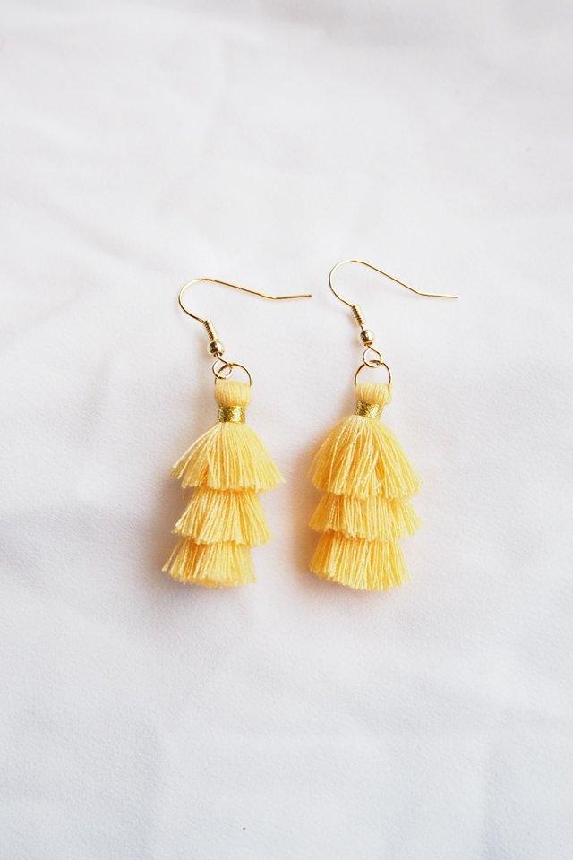 Mini Tassel Earrings (Marigold)