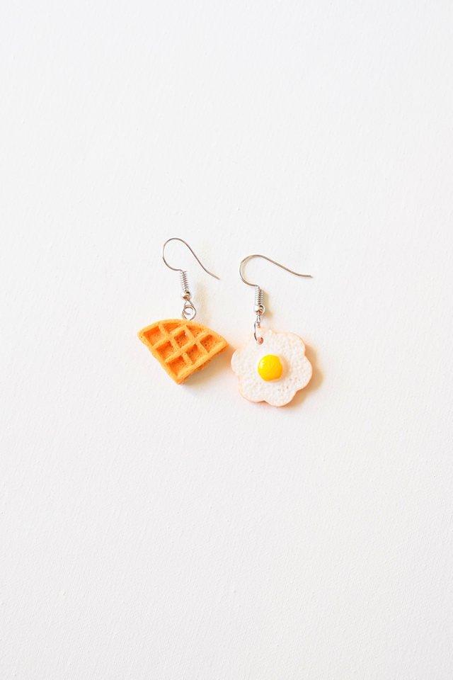 Waffle & Egg Earrings