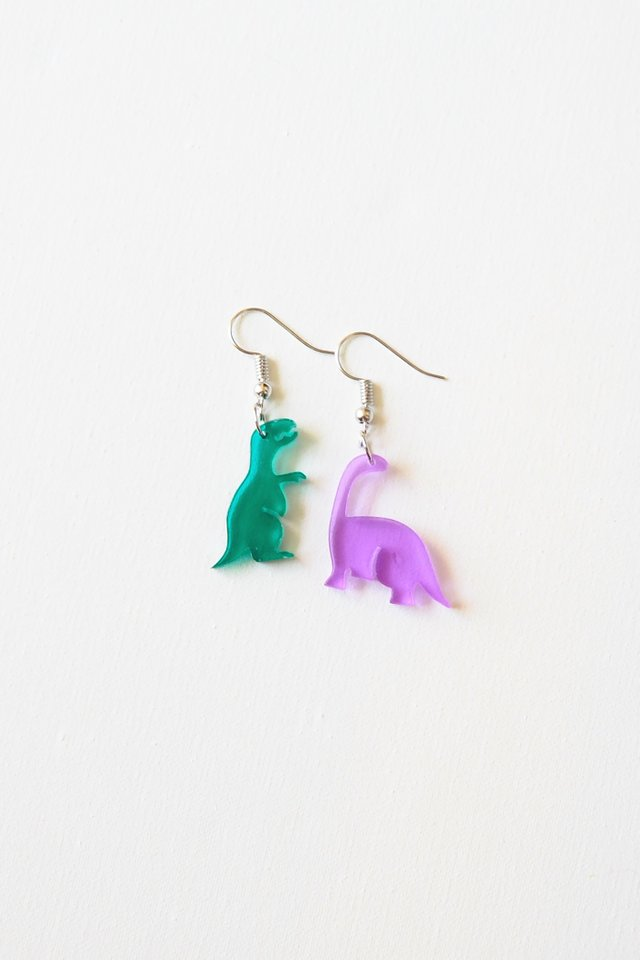 Mismatched Dino Earrings