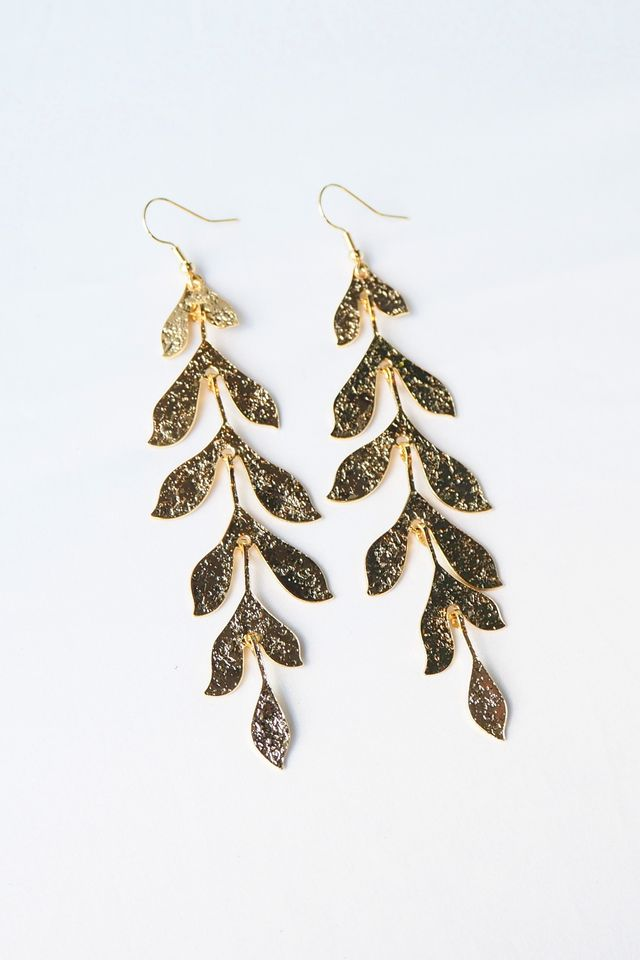 Leafy Earrings (Gold)