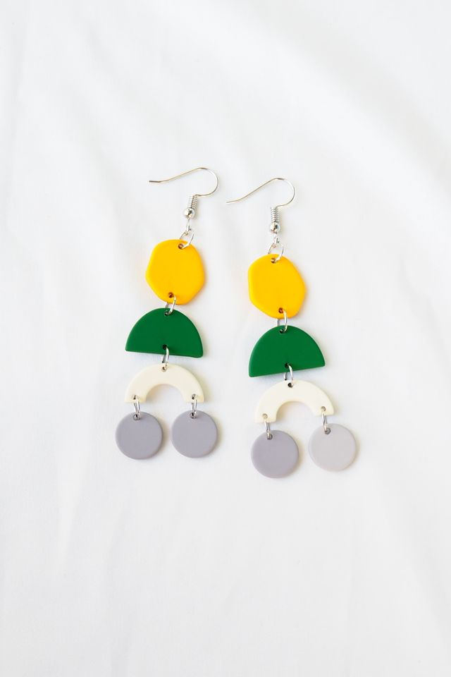 Elkie Earrings (Green)