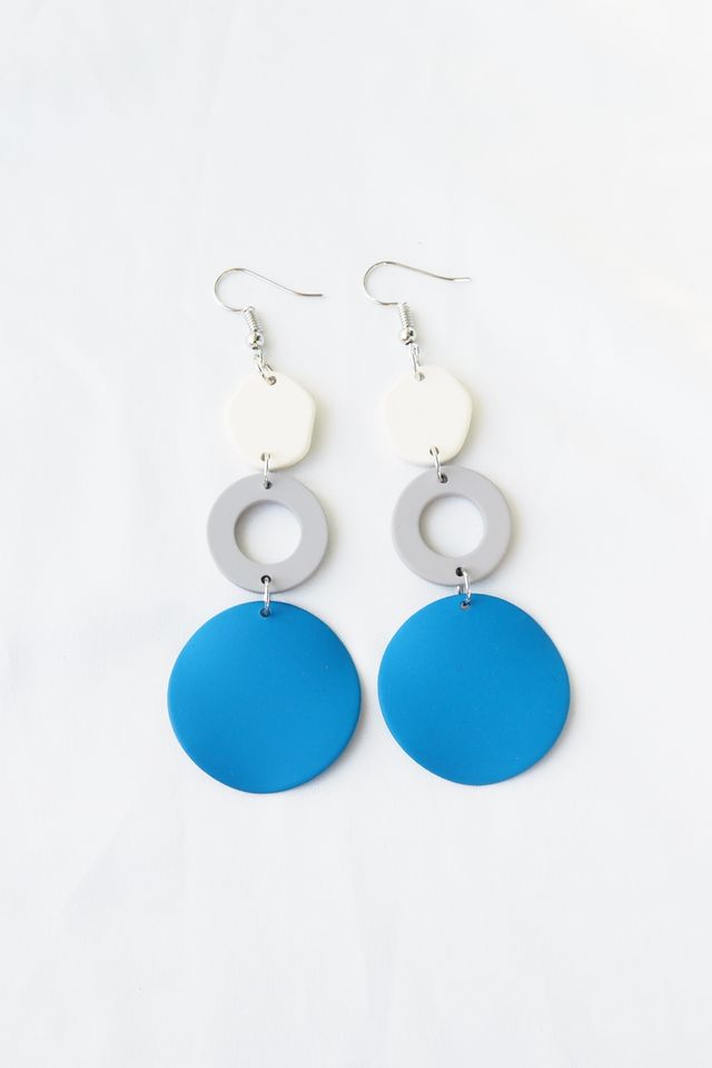 Wave Block Earrings