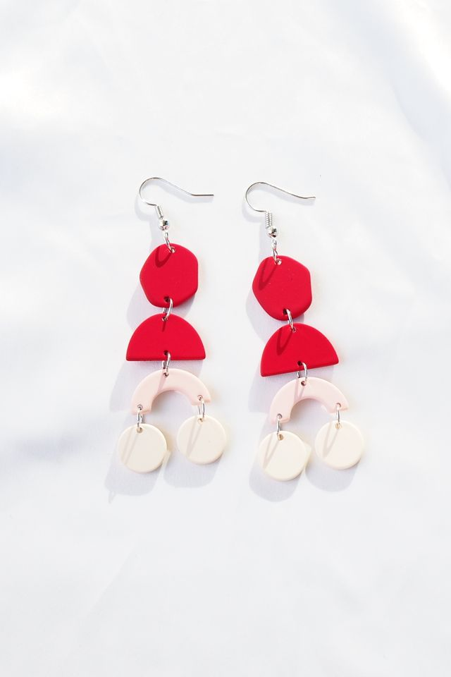 Elkie Earrings (Red)