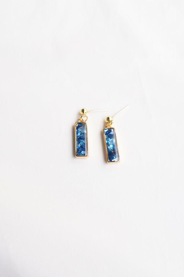 Nica Earstuds (Sapphire)