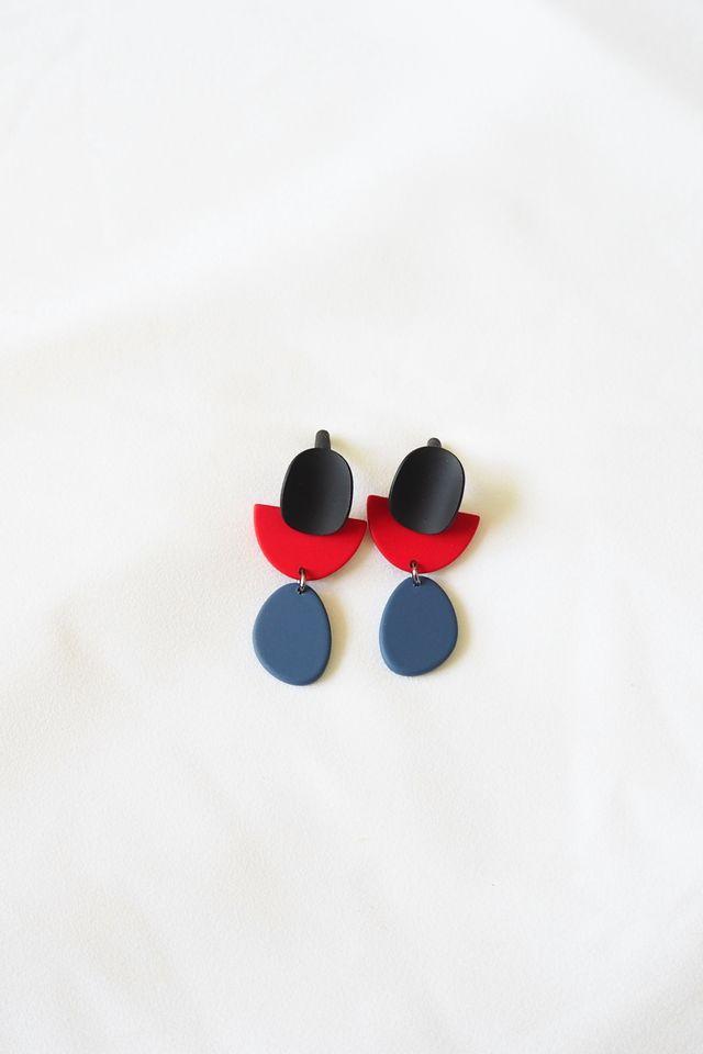 Klaudine Mini Earstuds (Navy)