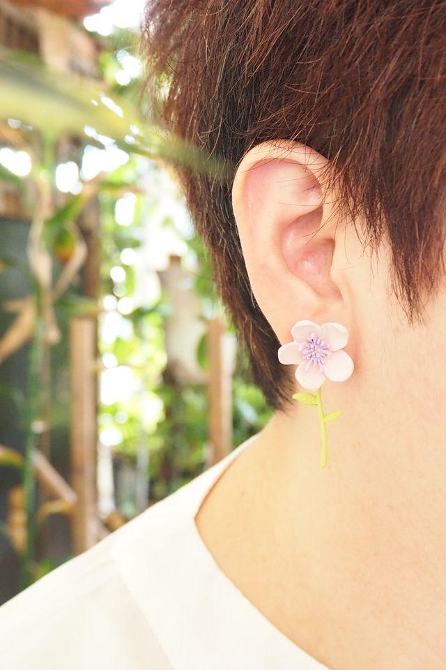 2 Way Flower Earstuds (Pink)