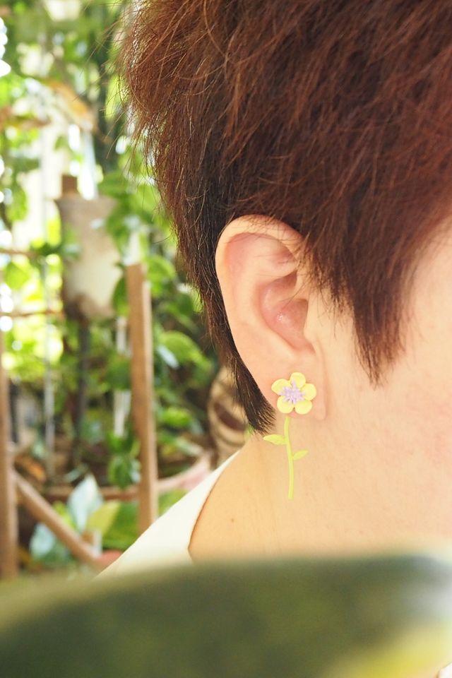 2 Way Mini Flower Earstuds (Pink)
