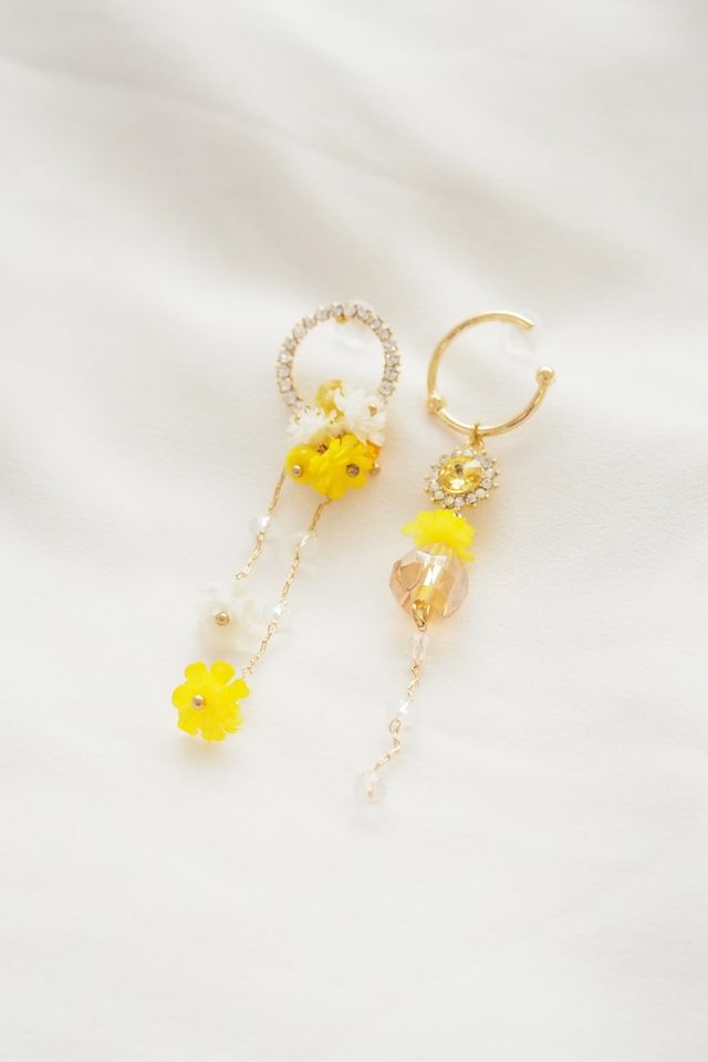 Fanny Mismatched Earstuds (Yellow)