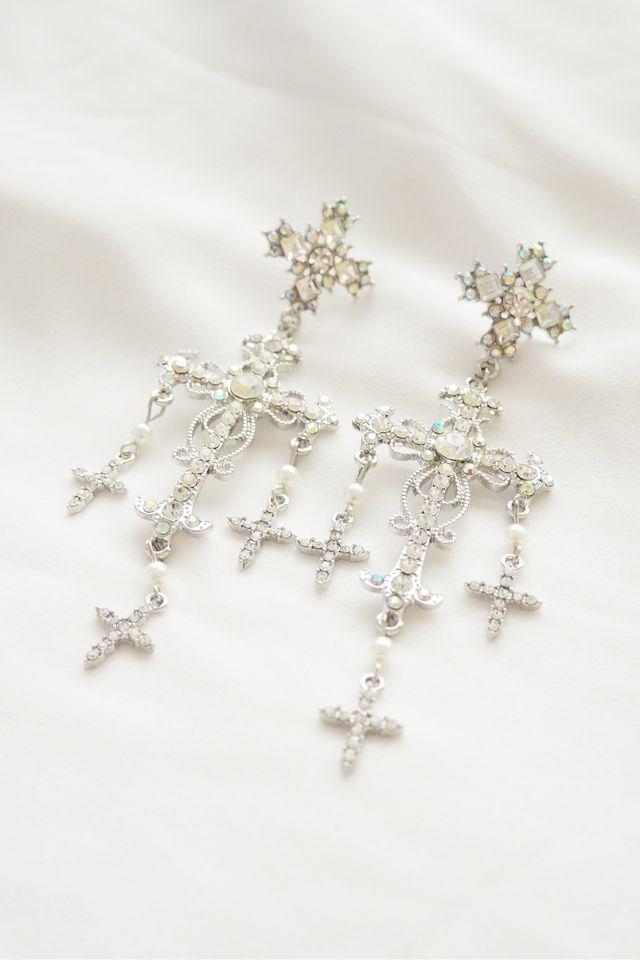 Cross Earstuds (Silver)