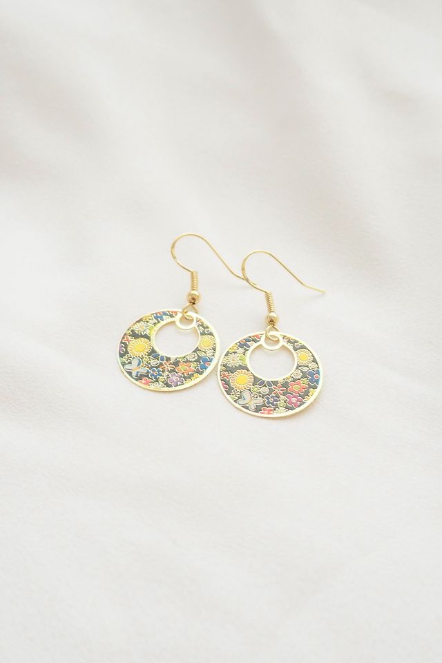 Mini Oriental Earrings (Navy)