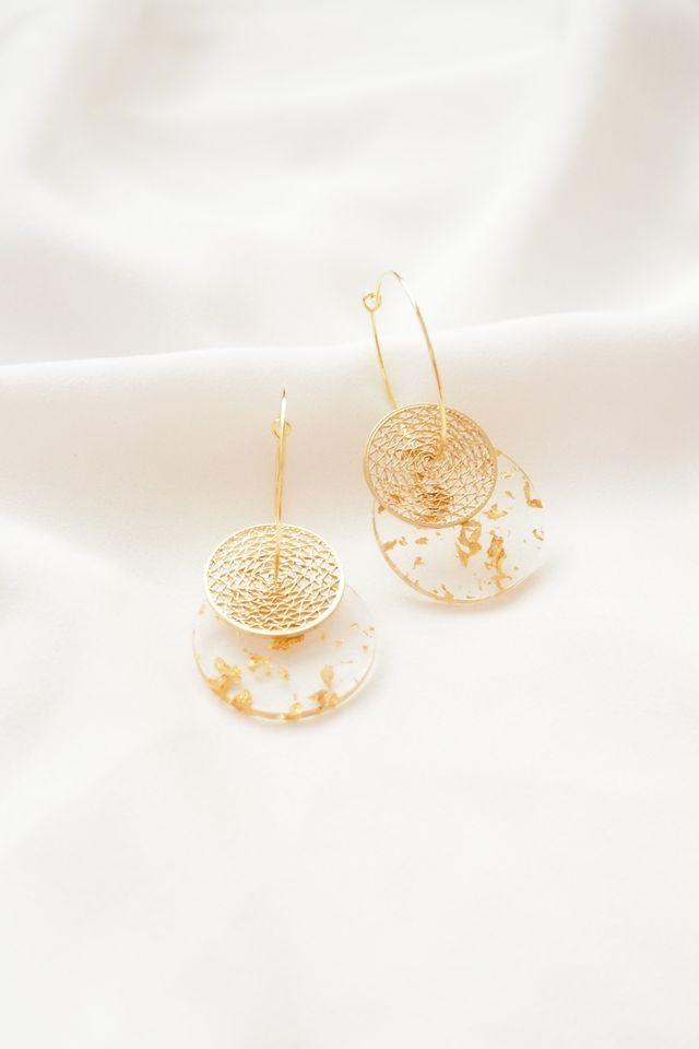 Gold Specks Hoops