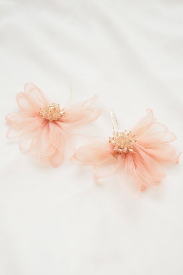 Chiffon Flower Hooks (Pink)