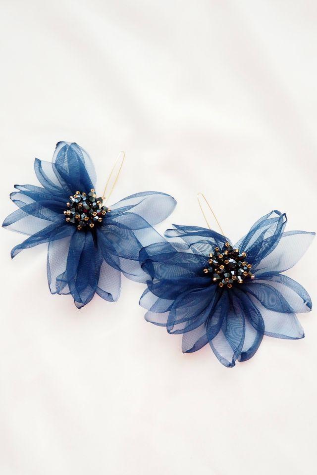 Chiffon Flower Hooks (Midnight)