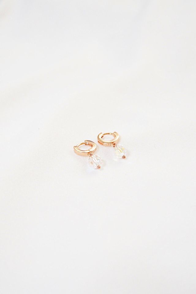 Rose Gold Huggies (White)