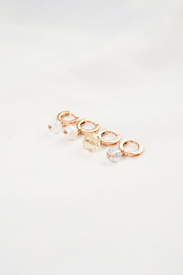 Rose Gold Huggies (Pearl)