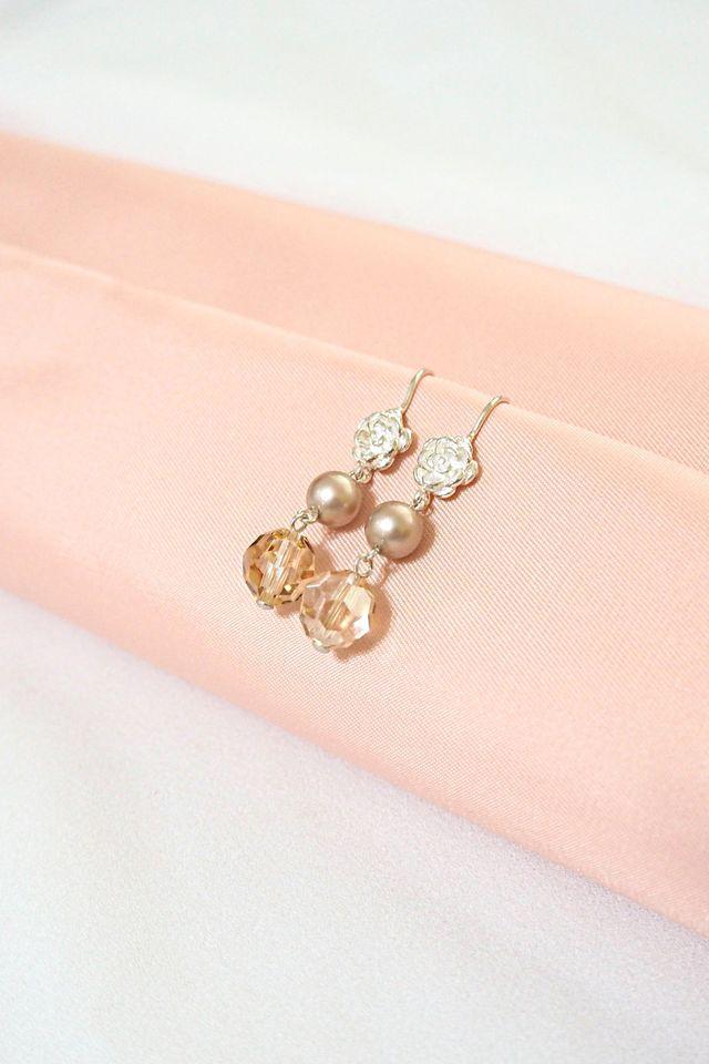 Rosie Champagne Earrings