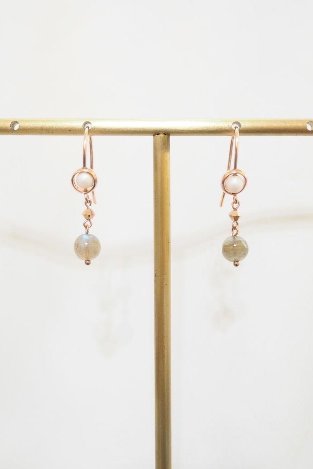 Tianna Moonstone Dangle Earrings