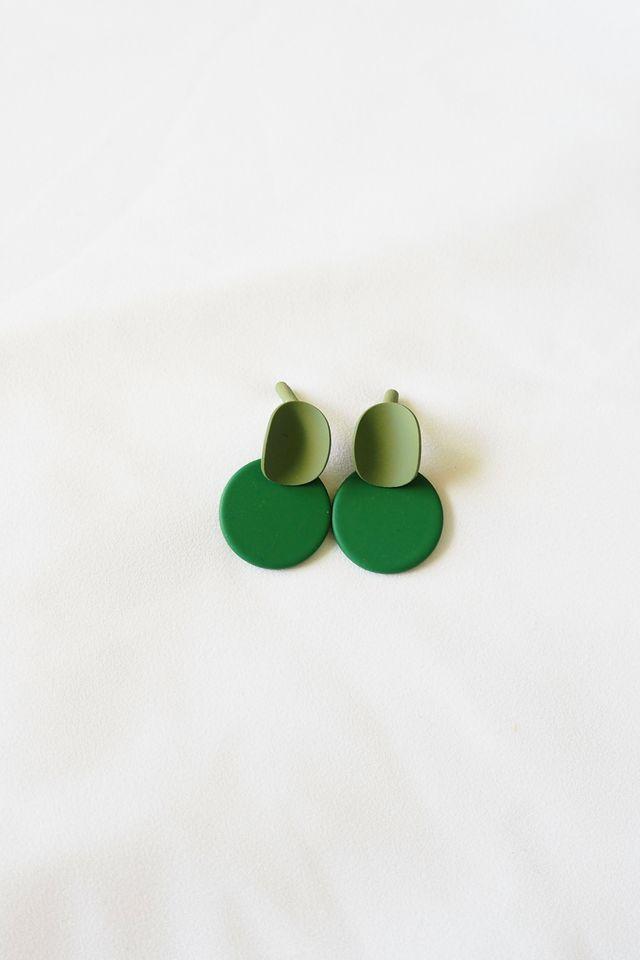 Mini Colourblock Earstuds (Forest)