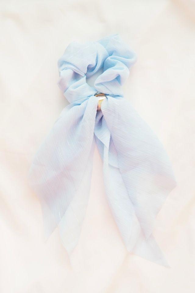 Ribbon Scrunchie (Blue)
