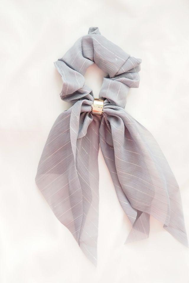 Ribbon Scrunchie (Navy)