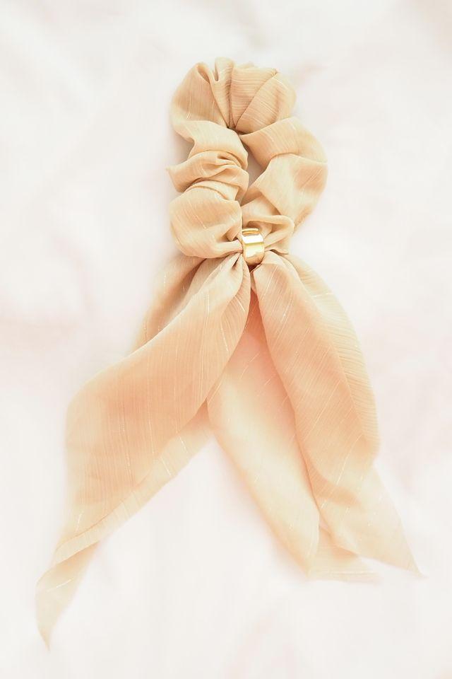 Ribbon Scrunchie (Khaki)