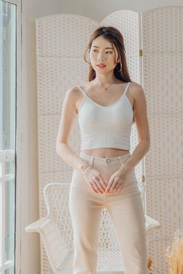 Basic Padded Camisole in White