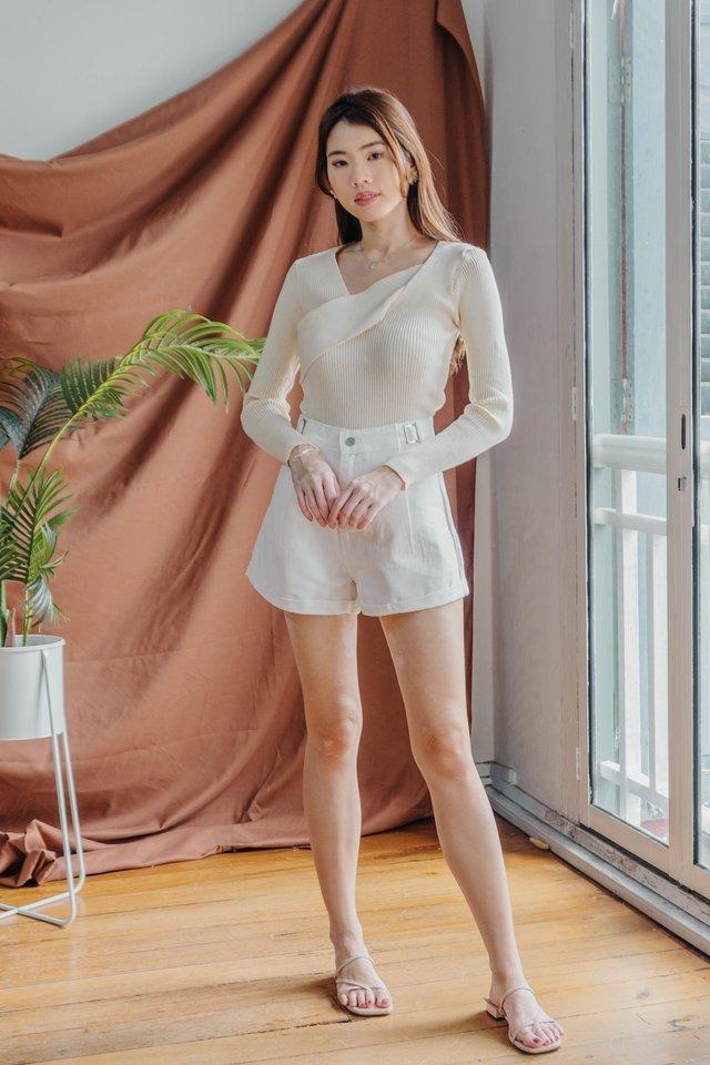Denim Shorts in White