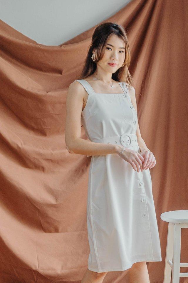 Maxim Button Down Dress in White