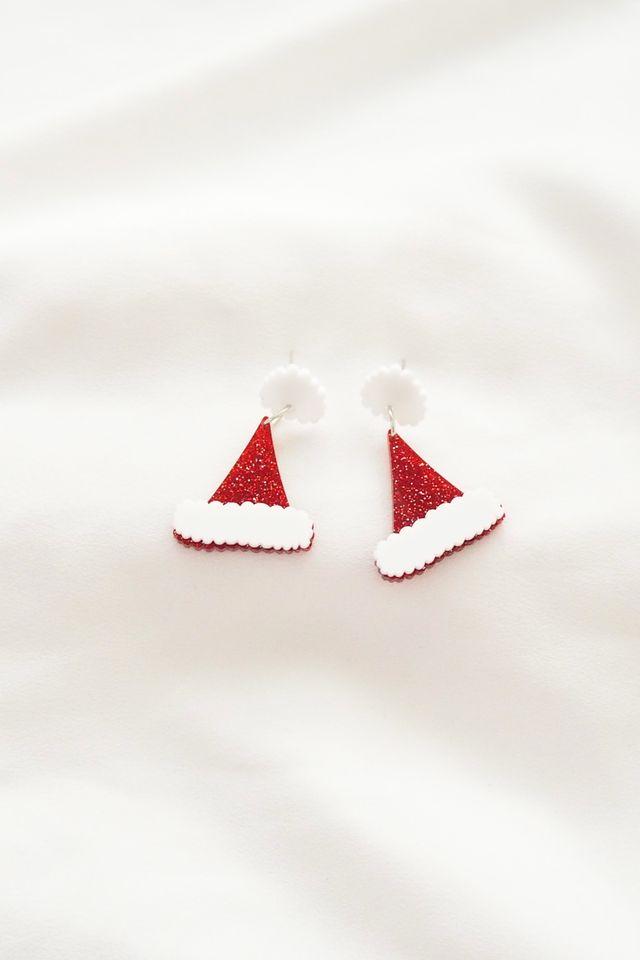 Santa Hat Earstuds