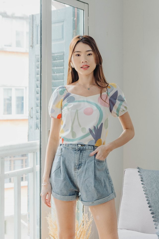 Revelyn Two Way Top in Abs White