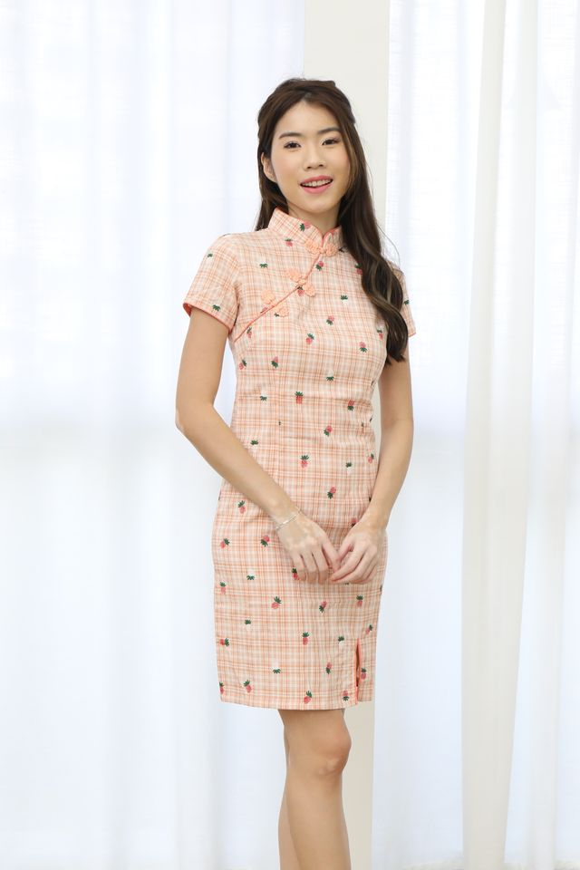 Pineapple Cheongsam Dress