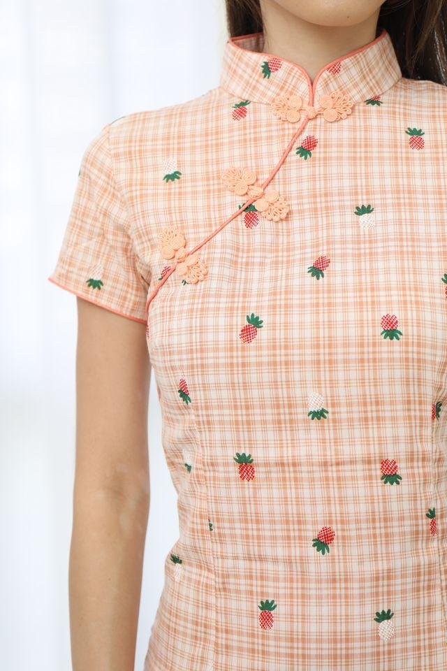 Pineapple Cheongsam Dress