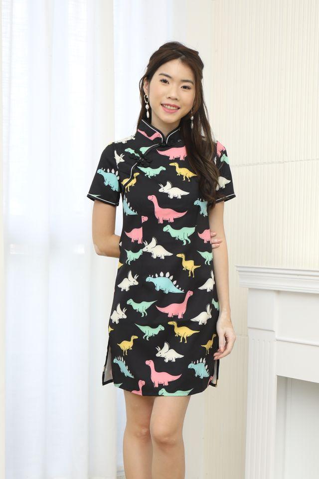 Cute Cheongsam Dress in Dino