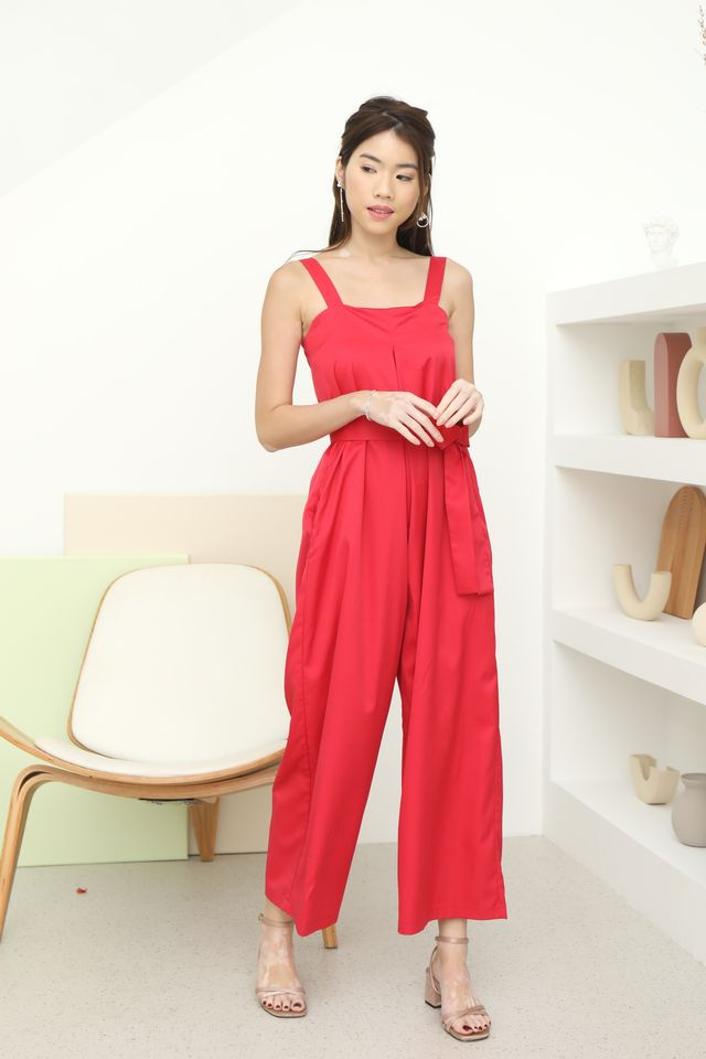 Trish Wide Leg Jumpsuit in Hot Pink