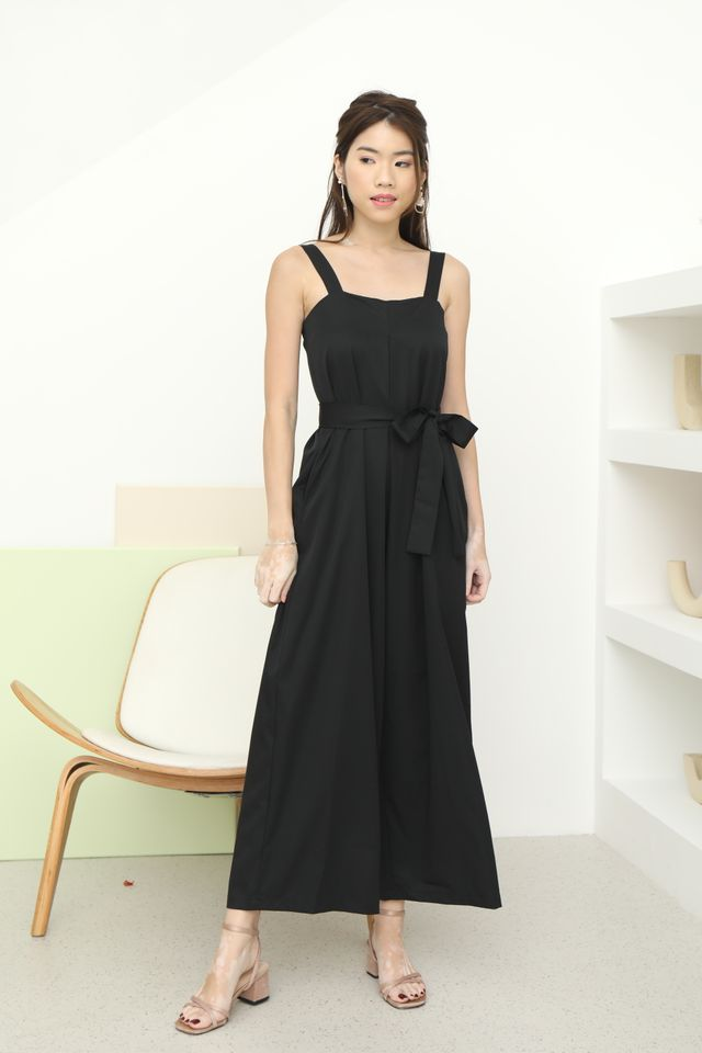 Trish Wide Leg Jumpsuit in Black
