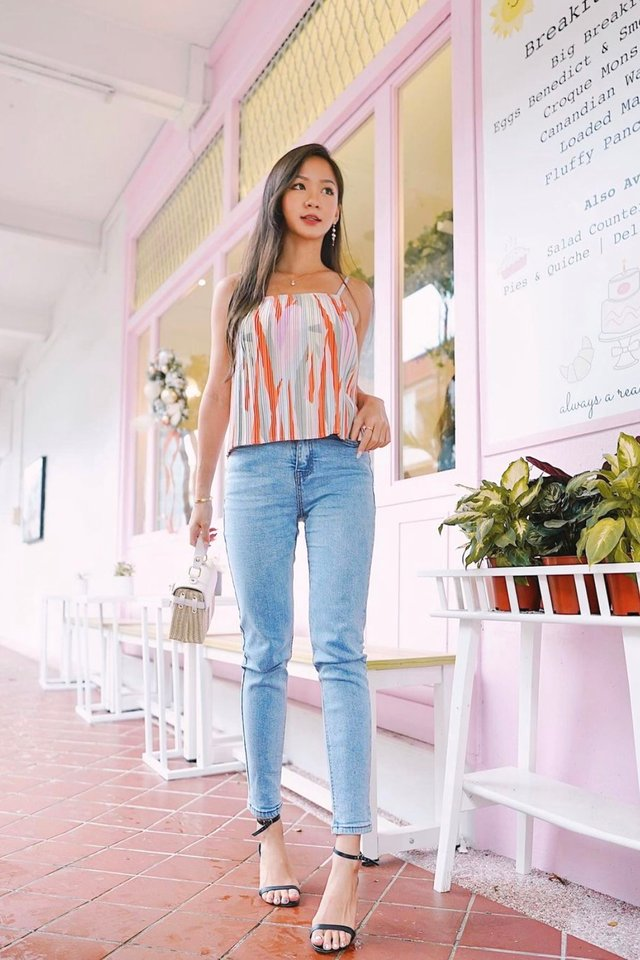 Fitted Cropped Denim