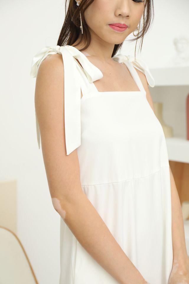 Tie Shoulder Maxi in White