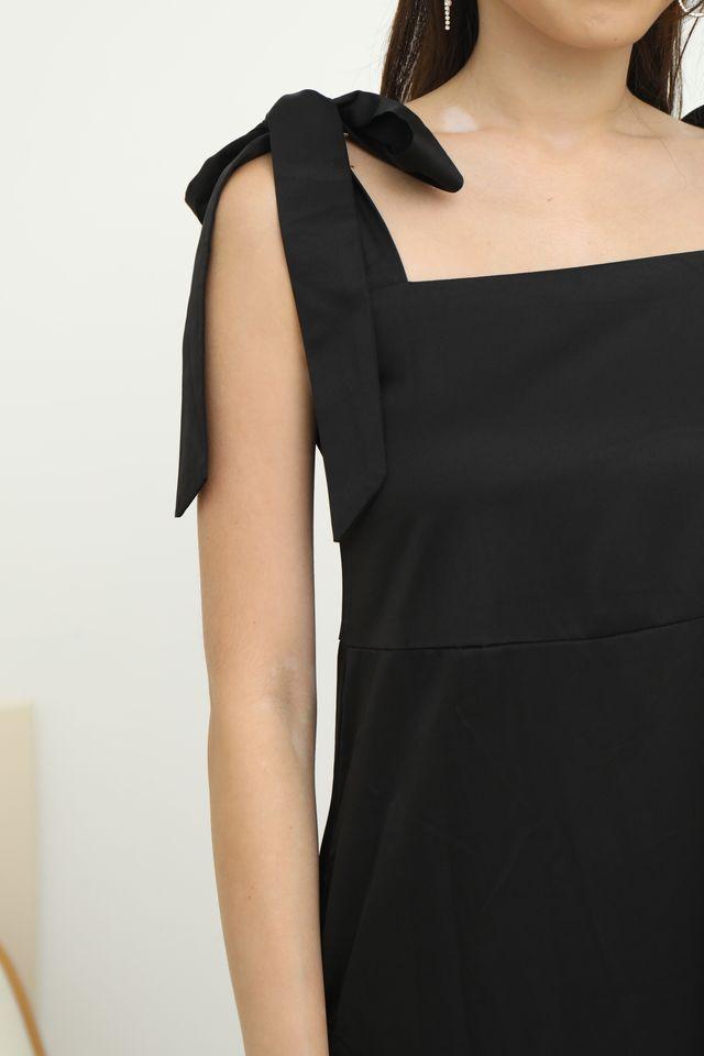 Tie Shoulder Maxi in Black