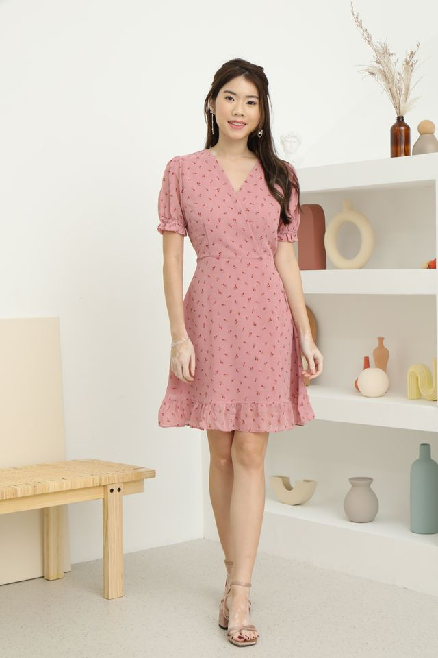 Mini Flowers Dress in Pink