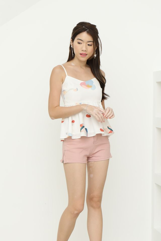 Klare Peplum Top in White