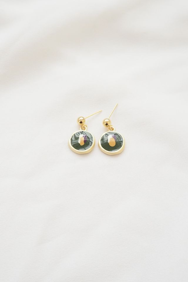 Colour Pop Earstuds in Forest