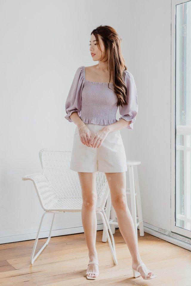 Basic Linen Shorts in White
