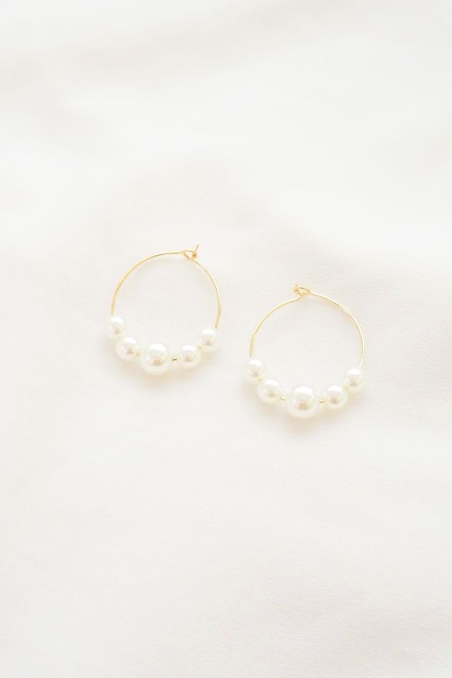 Basic Pearl Hoops