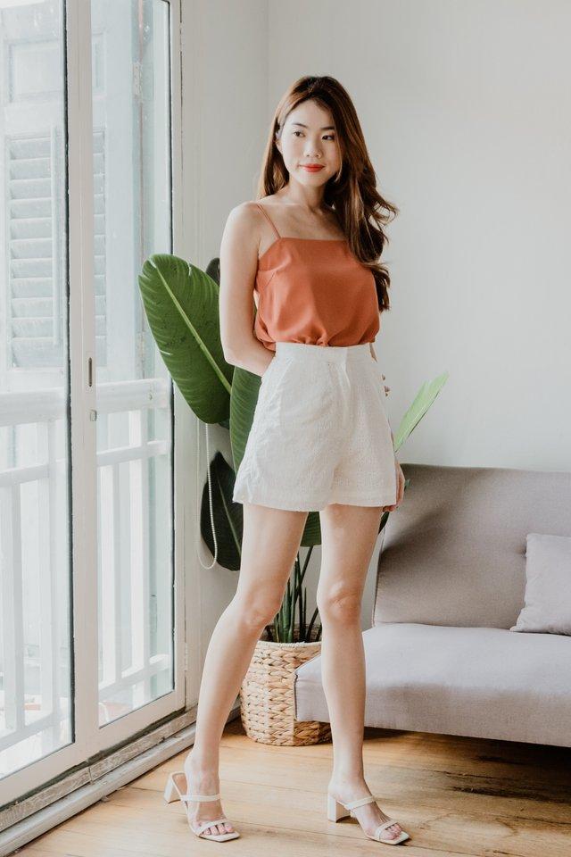 Eyelet Shorts in White