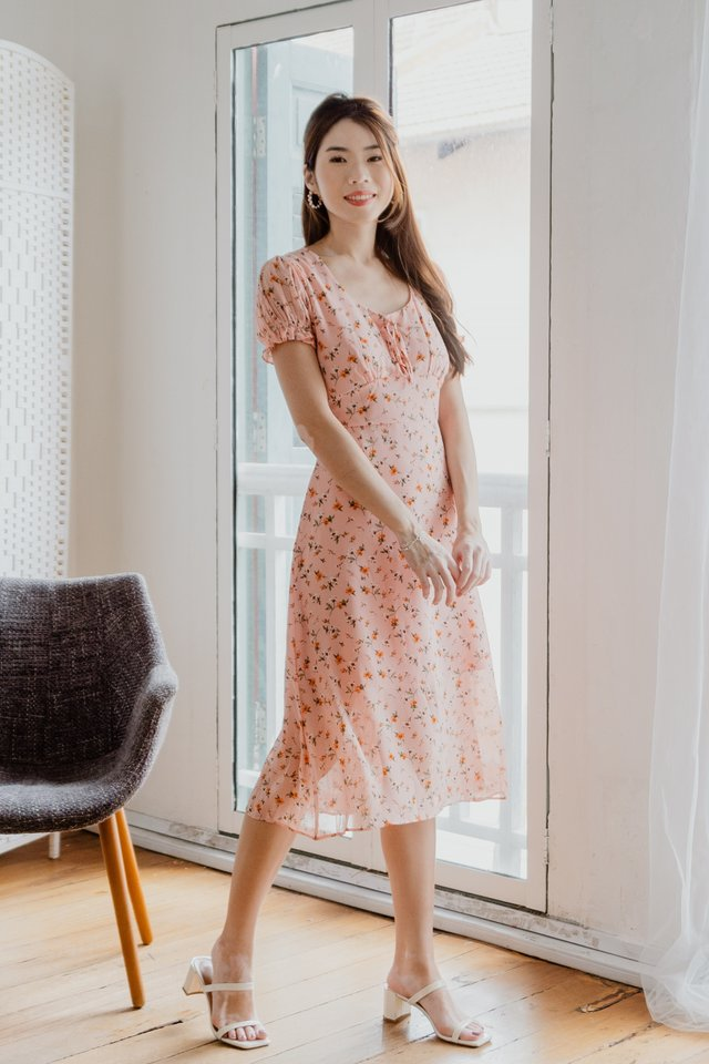 Hilary Floral Midi in Pink