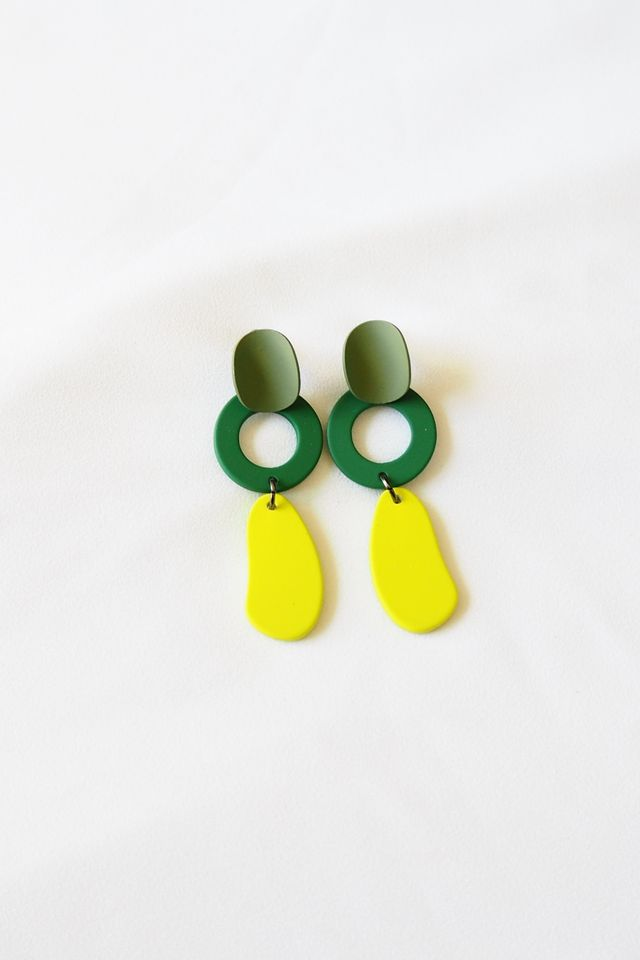 Charmie Earstuds in Lime