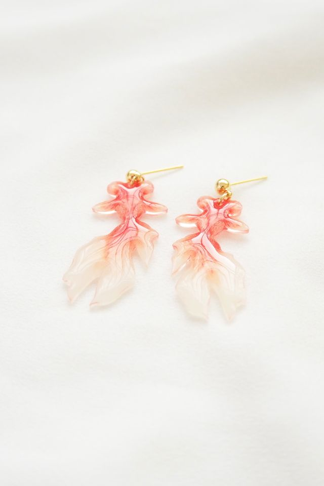 Gold Fish Earstuds