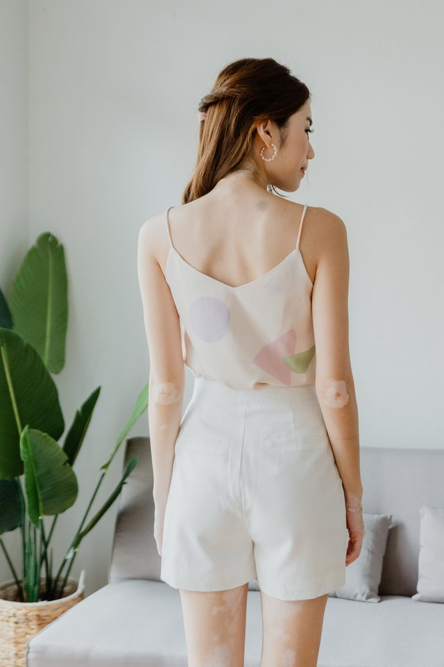 Pastel Shapes Two Way Camisole in Nude
